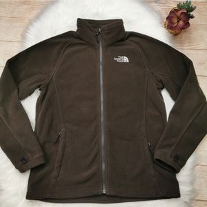 The North Face Full Zip Up Brown Jacket Size M